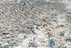 冰川鸟瞰图 图库摄影
