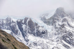 冰川,托里斯del潘恩国家公园,智利 免版税图库摄影