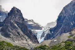 冰川,托里斯del潘恩国家公园,智利 免版税库存图片