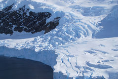 冰川终点 免版税库存图片