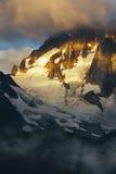 冰川细节在大教堂峰顶, Haines阿拉斯加的 图库摄影