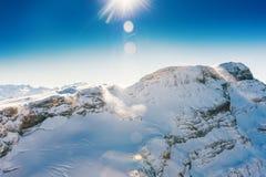 冰川3000,瑞士 免版税库存照片