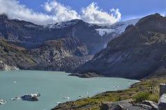 黑冰川 库存照片
