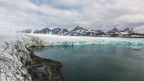 冰川` s前额汉斯的全景 库存图片