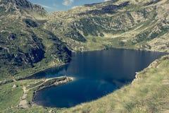 冰川Brenta白云岩的山湖 库存照片