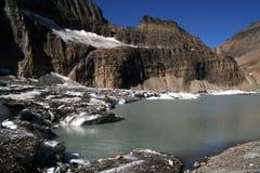 冰川grinnell湖国家公园美国 免版税库存图片