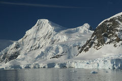 冰川icefalls山 库存图片