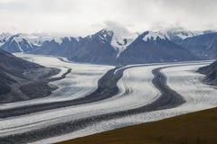 冰川kaskawulsh 免版税库存照片