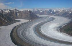 冰川kaskawulsh 免版税图库摄影