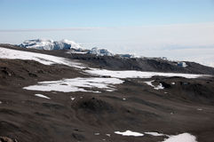 冰川kilimanjaro挂接山顶 库存图片