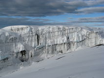 冰川kilimanjaro 库存图片