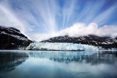 冰川margerie 免版税库存照片