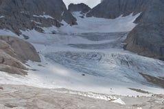 冰川marmolada 免版税图库摄影