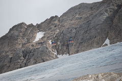 冰川marmolada 免版税库存照片