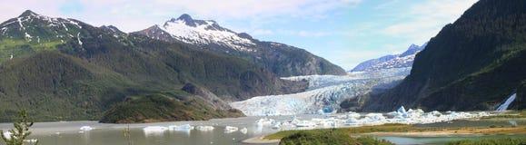 冰川mendenhal全景 库存照片