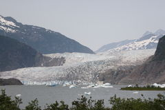 冰川mendenhall 图库摄影