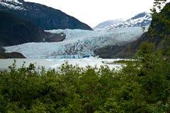 冰川mendenhall 库存照片