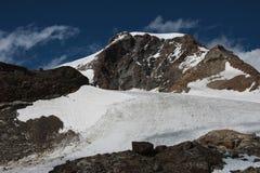 冰川monte罗莎 免版税库存图片