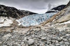 冰川nigardsbreen 免版税库存照片