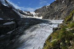 冰川tiefmatten 库存照片