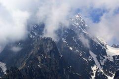 冰川Uttarakhand的小山驻地在印度 库存照片