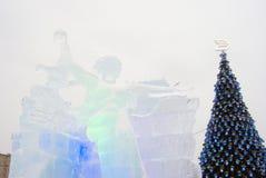冰形象在莫斯科 库存图片