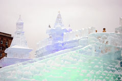 冰形象在莫斯科 免版税库存图片
