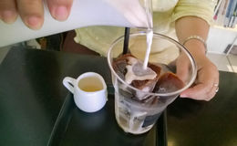 冰拿铁coffe 库存图片