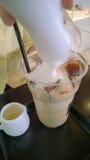 冰拿铁coffe 免版税图库摄影