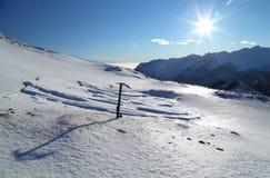 冰斧 图库摄影