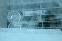 冰旅馆数字 库存图片