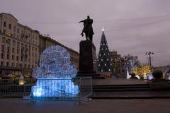 冰时钟,莫斯科 图库摄影