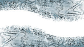 从冰晶的样式在窗玻璃 免版税库存图片