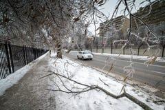 冰暴 免版税库存照片