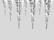 冰柱发光 免版税库存照片
