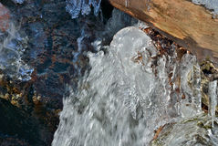 冰柱和水4 库存照片