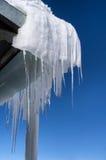 冰柱在冬天 免版税图库摄影