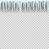 冰柱无缝的样式 免版税图库摄影
