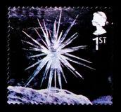 冰柱星,圣诞节2003年-兵马俑serie,大约2003年 免版税库存照片