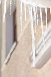 冰柱春天 库存照片