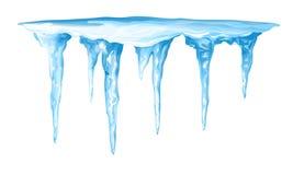 冰柱群 库存照片