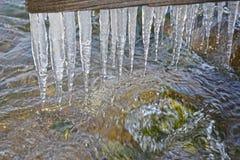 冰柱贝加尔湖 库存图片