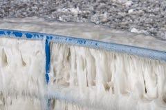 冰栏杆 免版税库存图片