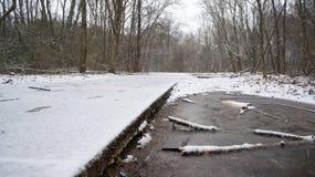 冰水道路 图库摄影