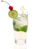 冰汁液柠檬 免版税库存照片