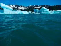 冰河冰墙壁 免版税库存照片