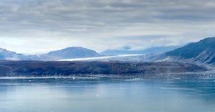 冰河海湾阿拉斯加从游轮蓝色小时 库存图片