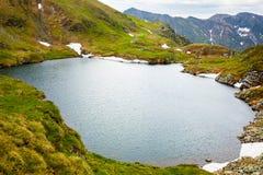 冰河湖山 库存图片