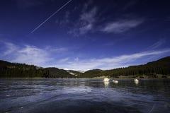 冰河湖 免版税图库摄影