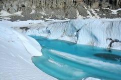 冰河湖 免版税库存图片